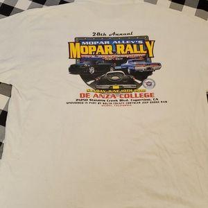 Mopar Alley Rally 28th Annual Car Show T-Shirt XXL